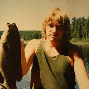 In a middle of a wilderness canoe trip feeling hungry and you catch a bass. We ate that fish and it was good.